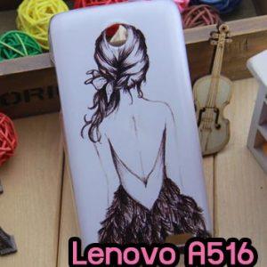 M696-02 เคสแข็งพิมพ์ลาย Lenovo A516 ลาย Women