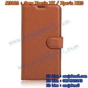 M3126-02 เคสฝาพับ Sony Xperia XZ/XZS สีน้ำตาล