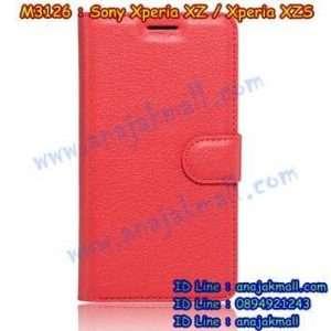 M3126-06 เคสฝาพับ Sony Xperia XZ/XZS สีแดง
