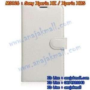 M3126-08 เคสฝาพับ Sony Xperia XZ/XZS สีขาว