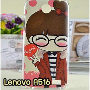 M696-19 เคสแข็งพิมพ์ลาย Lenovo A516 ลาย Hi Girl
