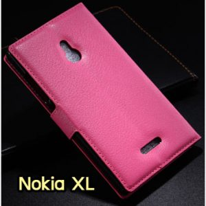 M1183-04 เคสหนังฝาพับ Nokia XL สีกุหลาบ