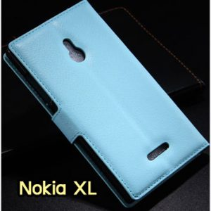 M1183-06 เคสหนังฝาพับ Nokia XL สีฟ้า