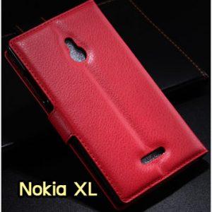 M1183-08 เคสหนังฝาพับ Nokia XL สีแดง