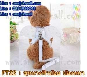 PT22-01 เสื้อผ้าสุนัข ชุดนางฟ้าตัวน้อย สีขาว