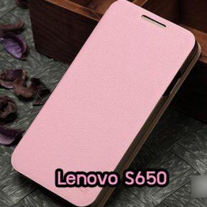 M809-04 เคสฝาพับ Lenovo S650 สีชมพู