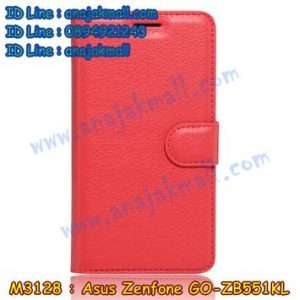 M3128-06 เคสฝาพับ Asus Zenfone GO-ZB551KL สีแดง