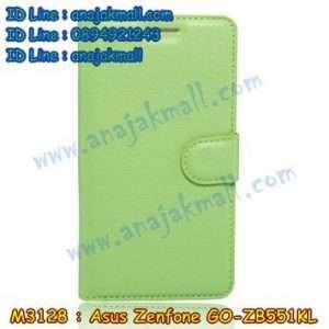 M3128-07 เคสฝาพับ Asus Zenfone GO-ZB551KL สีเขียว