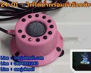 PT24-01 ไฟ LED เปลี่ยนสีได้ แต่งตู้ปลา พร้อมหัวอ๊อกซิเจน