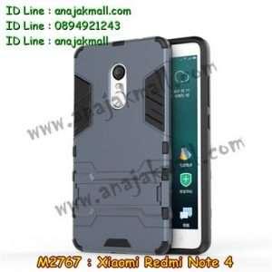 M2767-04 เคสโรบอท Xiaomi Redmi Note 4 สีดำ