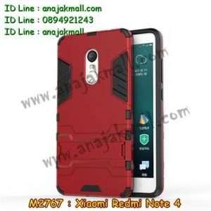 M2767-05 เคสโรบอท Xiaomi Redmi Note 4 สีแดง