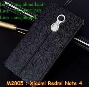 M2805-01 เคสฝาพับ Xiaomi Redmi Note 4 สีดำ