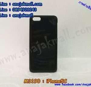 M3190-01 เคสแข็งสีดำ iPhone 5C