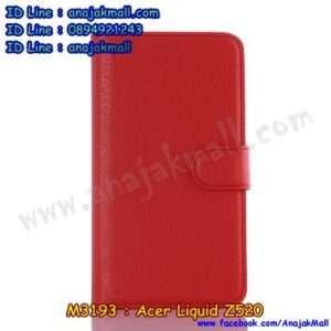 M3193-03 เคสฝาพับ Acer Liquid Z520 สีแดง
