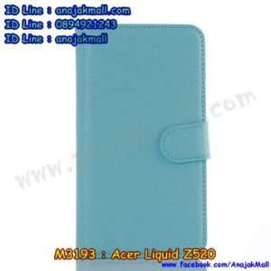 M3193-05 เคสฝาพับ Acer Liquid Z520 สีฟ้า