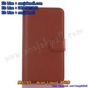 M3193-06 เคสฝาพับ Acer Liquid Z520 สีน้ำตาล