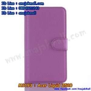 M3193-07 เคสฝาพับ Acer Liquid Z520 สีม่วง