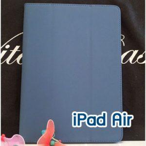 Mi45-03 เคสหนัง iPad Air สีน้ำเงิน