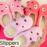 Doll19 รองเท้า slipper หมีน้อย