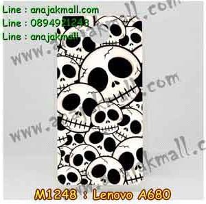 M1248-13 เคสยาง Lenovo A680 ลาย Skull II