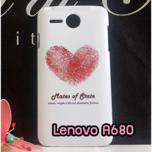 M790-19 เคสแข็ง Lenovo A680 ลาย Red Heart