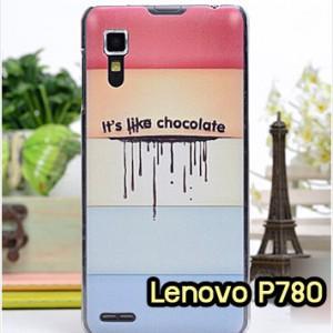 M951-08 เคสแข็ง Lenovo P780 ลาย Chocolate
