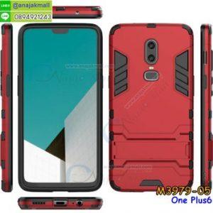 M3979-05 เคสโรบอทกันกระแทก OnePlus6 สีแดง