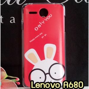 M790-23 เคสแข็ง Lenovo A680 ลาย Red Rabbit