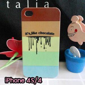 M734-04 เคสแข็ง iPhone 4S/4 ลาย Chocalate