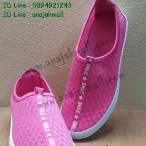SH001-01 รองเท้าแฟชั่น ผ้าตาข่าย สีชมพู