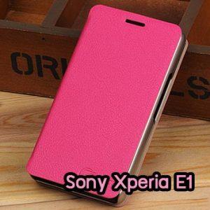 M795-02 เคสฝาพับ Sony Xperia E1 สีกุหลาบ