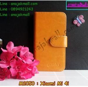 M2050-01 เคสไดอารี่ Xiaomi Mi 4i สีน้ำตาล