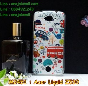 M2451-04 เคสยาง Acer Liquid Z530 ลาย London