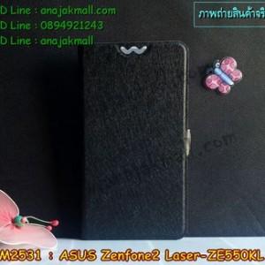 M2531-05 เคสฝาพับ ASUS ZenFone2 Laser (ZE550KL) สีดำ