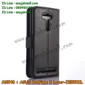 M2548-03 เคสหนัง ASUS ZenFone2 Laser (ZE550KL) สีดำ