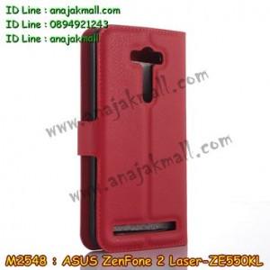 M2548-06 เคสหนัง ASUS ZenFone2 Laser (ZE550KL) สีแดง