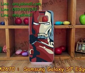 M2670-10 เคสแข็งขอบใส Samsung Galaxy S7 Edge ลาย Iron Man III
