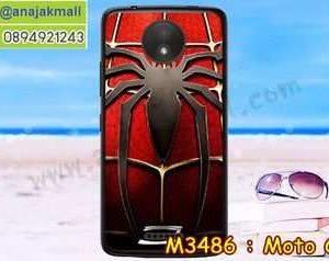 M3486-05 เคสแข็ง Moto C ลาย Spider