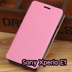 M795-04 เคสฝาพับ Sony Xperia E1 สีชมพู