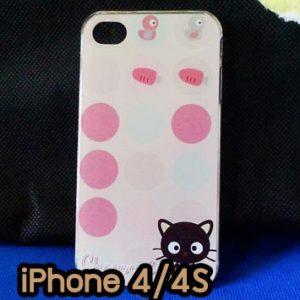M734-02 เคสแข็ง iPhone 4S/4 ลาย Black Cat