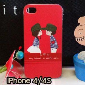 M734-06 เคสแข็ง iPhone 4S/4 ลาย Love You