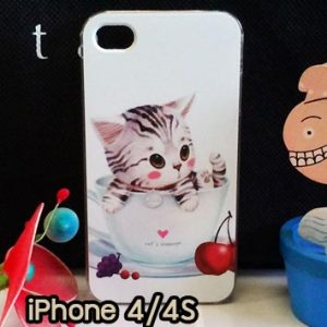 M734-08 เคสแข็ง iPhone 4S/4 ลาย Sweet Time