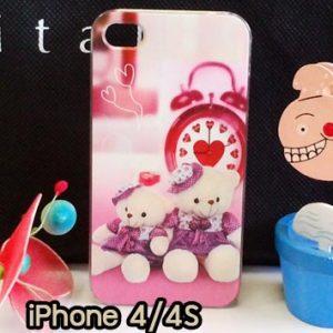 M734-09 เคสแข็ง iPhone 4S/4 ลาย Heart Bear