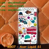 M807-18 เคสแข็ง Acer Liquid S1 ลาย London