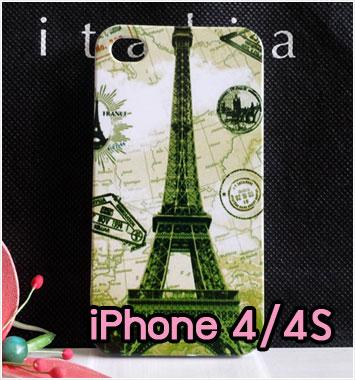 M734-10 เคสแข็ง iPhone 4S/4 ลายหอไอเฟล