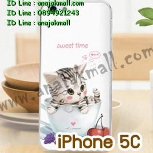 M750-08 เคสแข็ง iPhone 5C พิมพ์ลาย Sweet Time