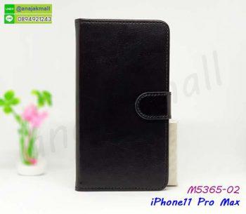 M5365-02 เคสฝาพับ iPhone11 pro Max สีดำ