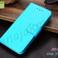 M5561-03 เคสหนังฝาพับ Vivo Y11 2019 สีฟ้า