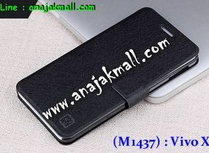 M1437-03 เคสหนังฝาพับ Vivo X3S สีดำ