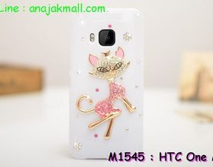 M1545-10 เคสประดับ HTC One M9 ลาย Cute Cat